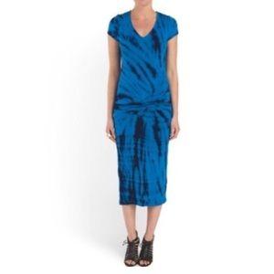 🍂SALE! YFB midi blue tie dye dress S